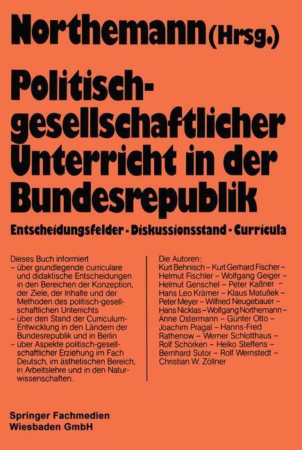 Politisch-gesellschaftlicher Unterricht in der ...
