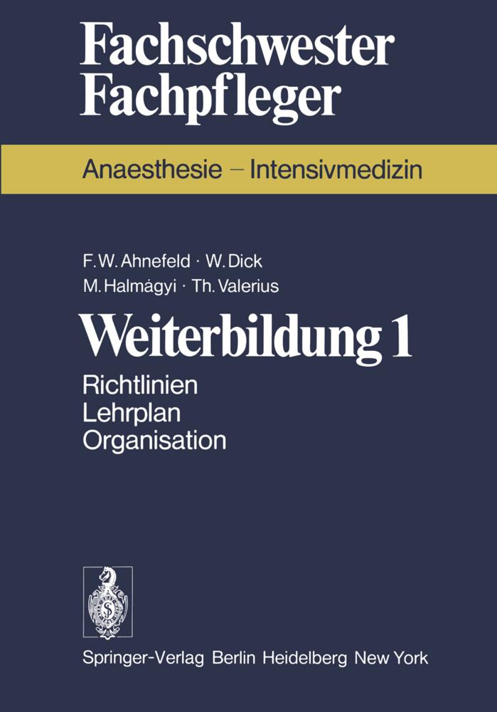 Weiterbildung 1 als Buch von F. W. Ahnefeld, W....