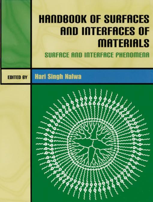 9780080533827 - - -: Handbook of Surfaces and Interfaces of Materials, Five-Volume Set als eBook Download von - - - Buch