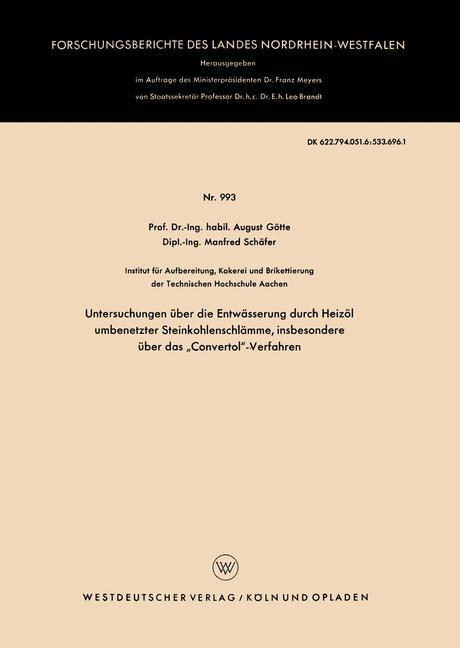 Untersuchungen über die Entwässerung durch Heiz...