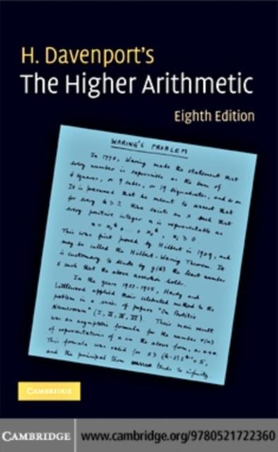 the higher arithmetic an introduction