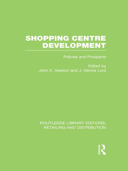 Shopping Centre Development (RLE Retailing and ...