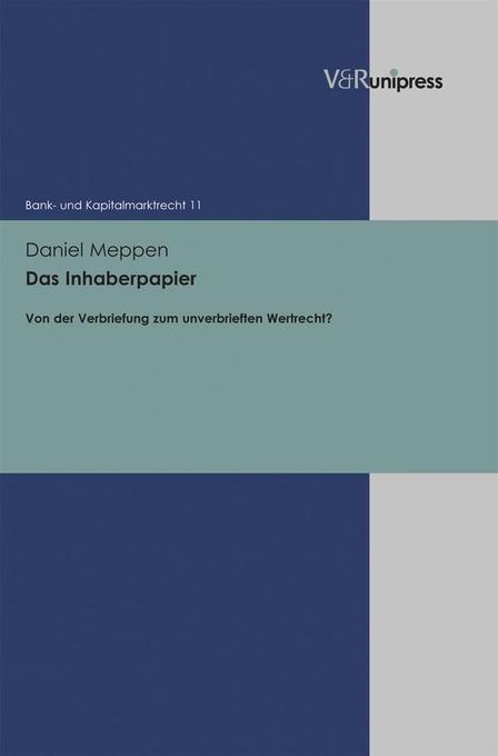 Das Inhaberpapier als Buch von Daniel Richard M...