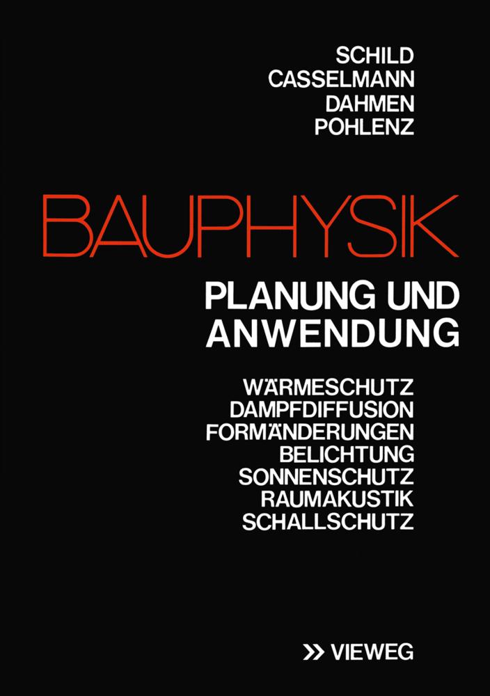 Bauphysik als Buch von Erich Schild