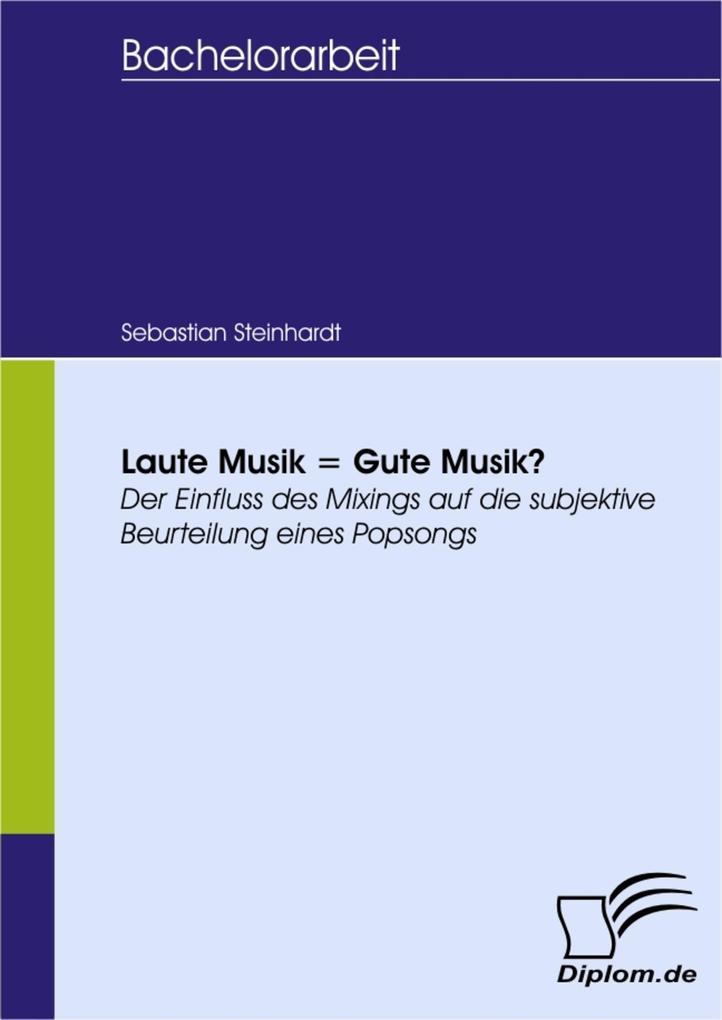 Laute Musik = Gute Musik? als eBook Download vo...