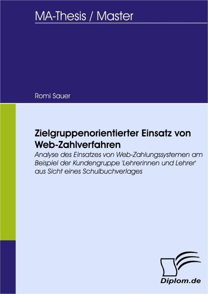 Zielgruppenorientierter Einsatz von Web-Zahlver...