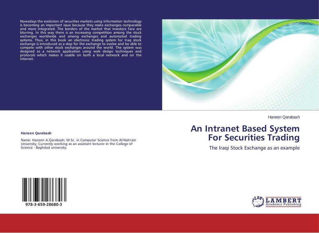 An Intranet Based System For Securities Trading...