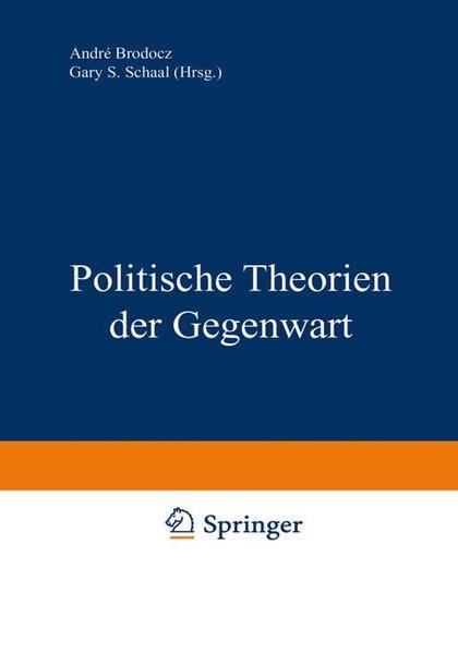 Politische Theorien der Gegenwart als Buch von