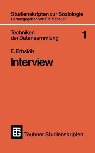 Techniken der Datensammlung 1 als Buch von E. E...