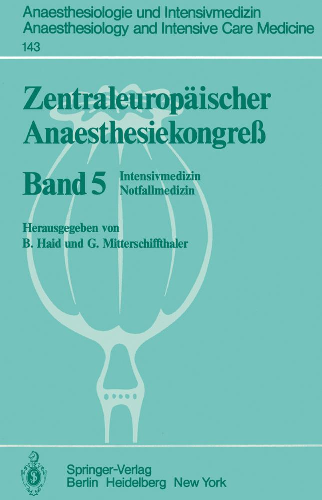 Zentraleuropäischer Anaesthesiekongreß als Buch...