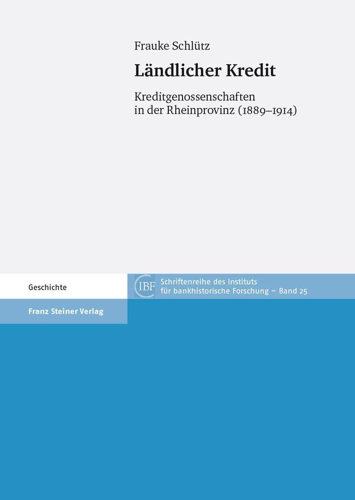 Ländlicher Kredit als eBook Download von Frauke...