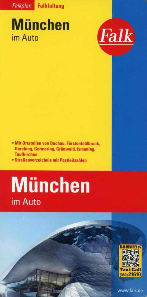 Falk Stadtplan Falkfaltung München im Auto mit ...