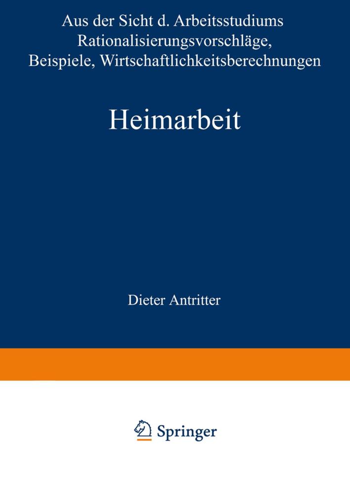 Heimarbeit als Buch von Dieter Antritter