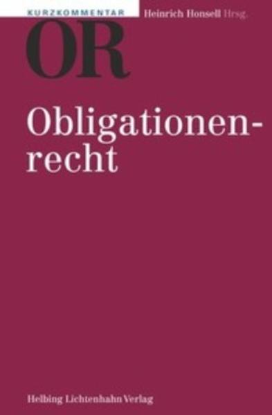 9783719029029 - Robert K. Däppen, Olivier Heuberger-Götsch, Christoph Bauer, Reto M. Hilty, Magdalena Hofstetter: Kurzkommentar OR - Libro