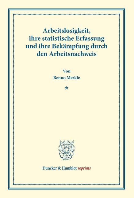 Arbeitslosigkeit, als Buch von Benno Merkle