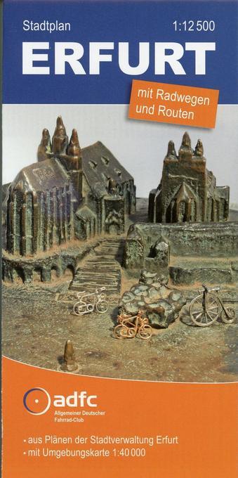 ADFC-Stadtplan Erfurt 1 : 12.500 als Buch von