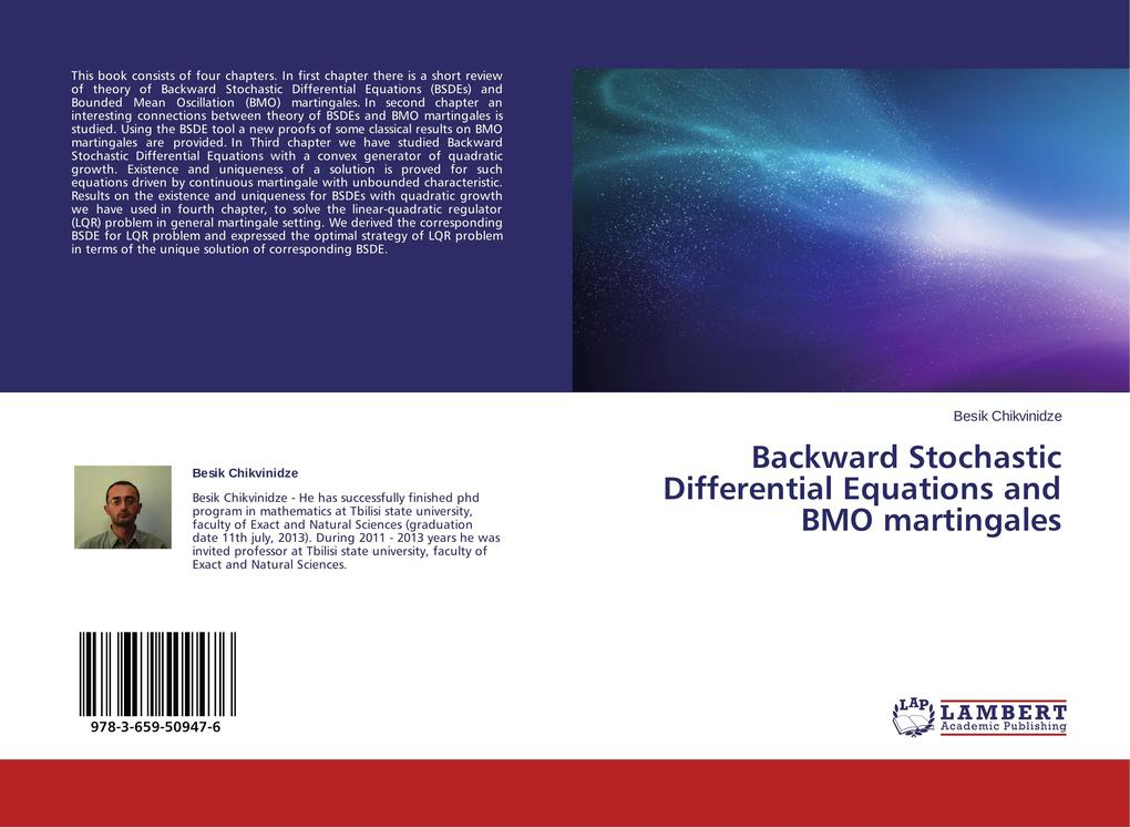 Backward Stochastic Differential Equations and ...