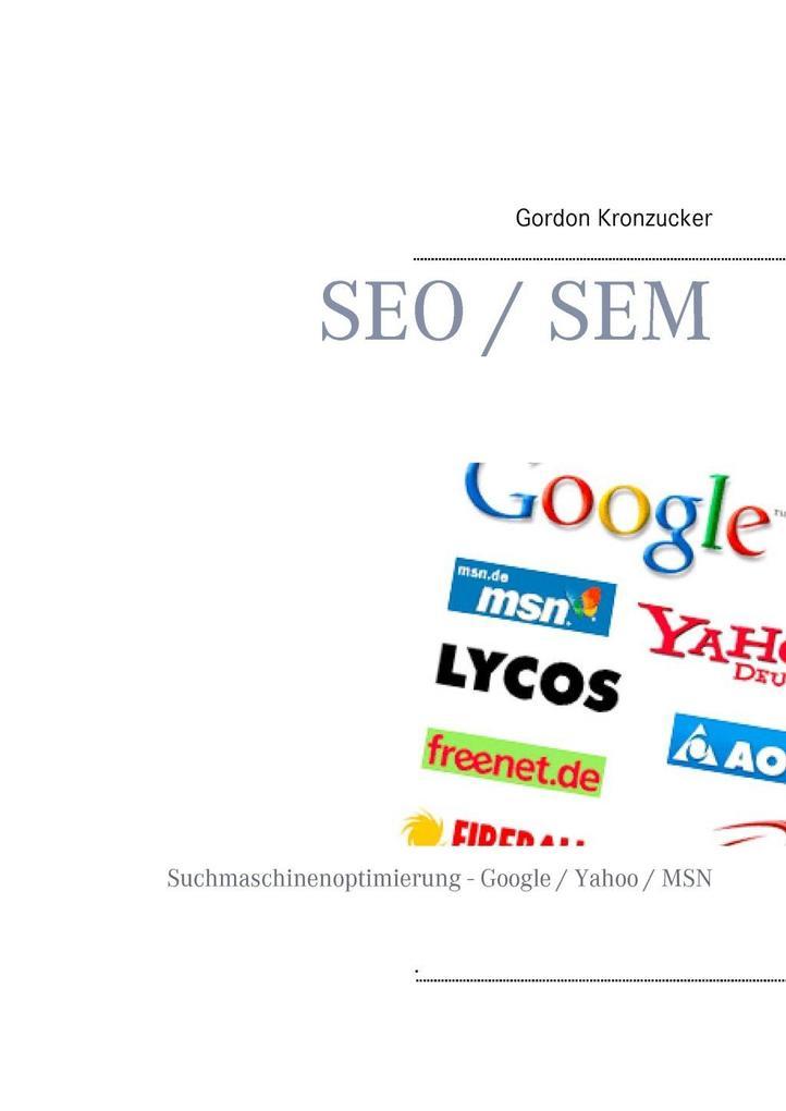 SEO / SEM als eBook Download von Gordon Kronzucker