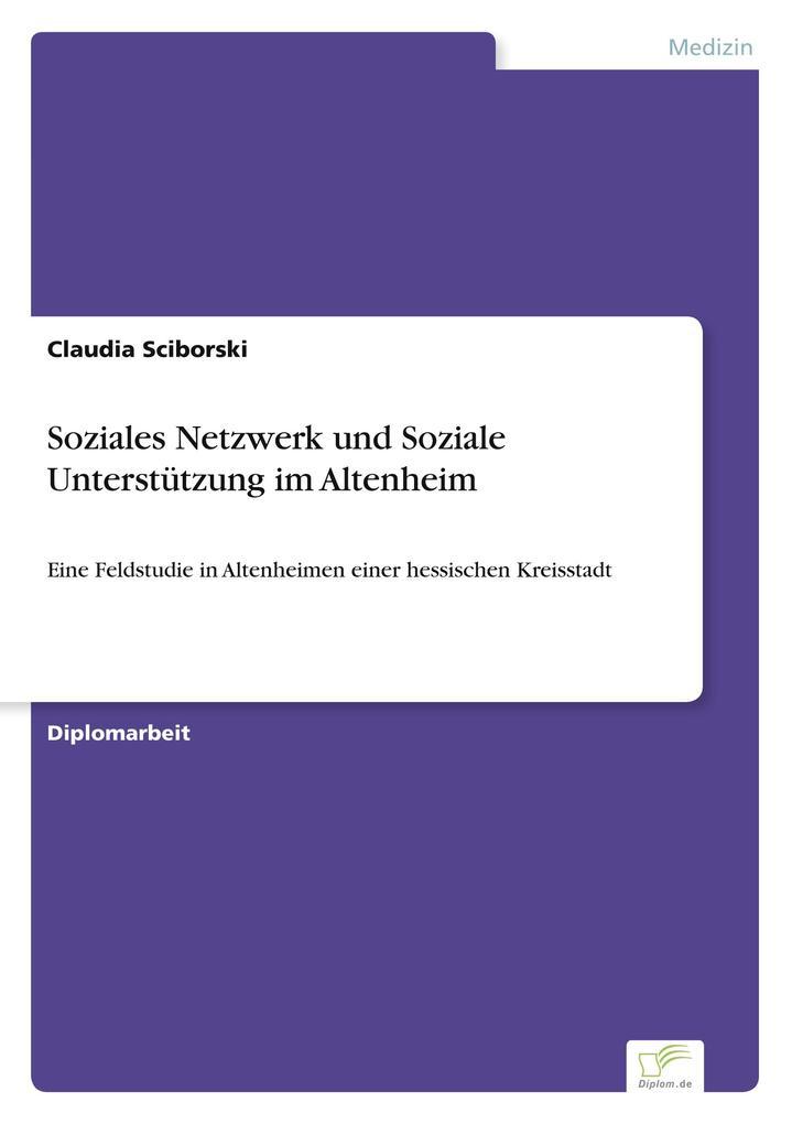 Soziales Netzwerk und Soziale Unterstützung im ...
