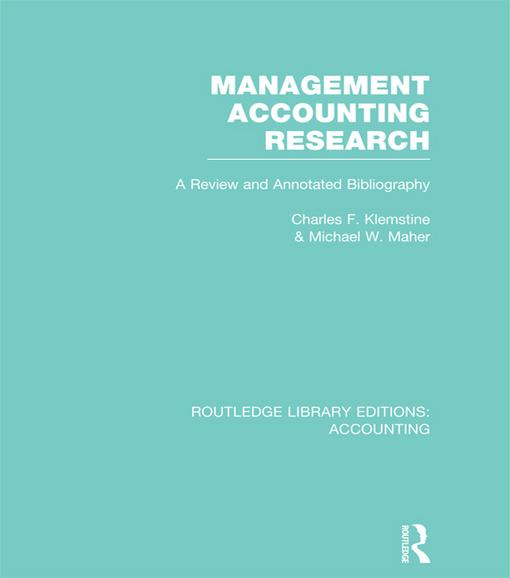 management accounting research Our research focuses on management accounting and management control, in particular on the areas of organizational change and tmt impact.
