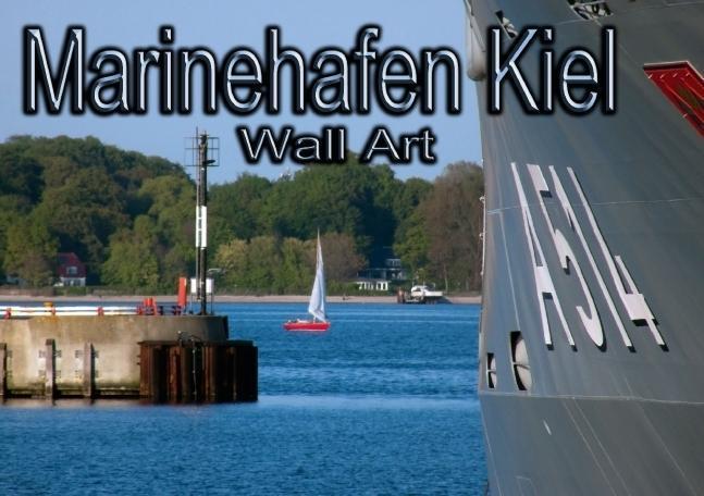 Marinehafen Kiel - Wall Art (Tischaufsteller DI...