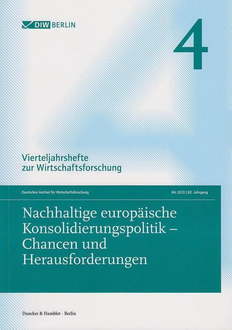 Nachhaltige europäische Konsolidierungspolitik ...