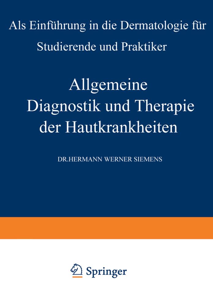 Allgemeine Diagnostik und Therapie der Hautkran...