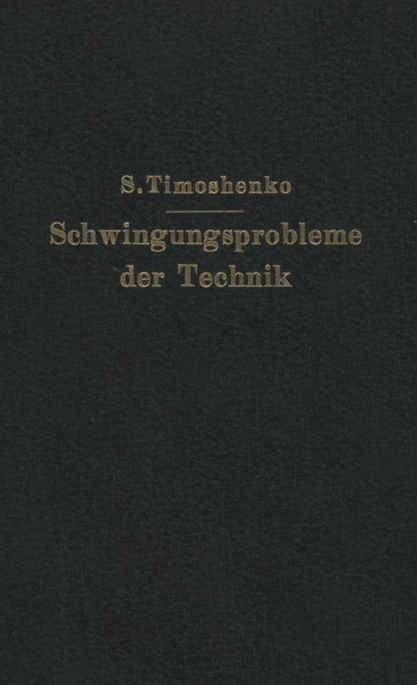 Schwingungsprobleme der Technik als Buch von S....