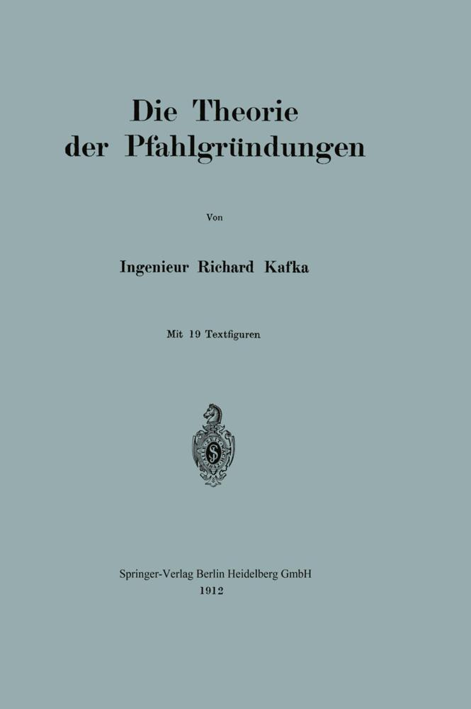 Die Theorie der Pfahlgründungen als Buch von Ri...
