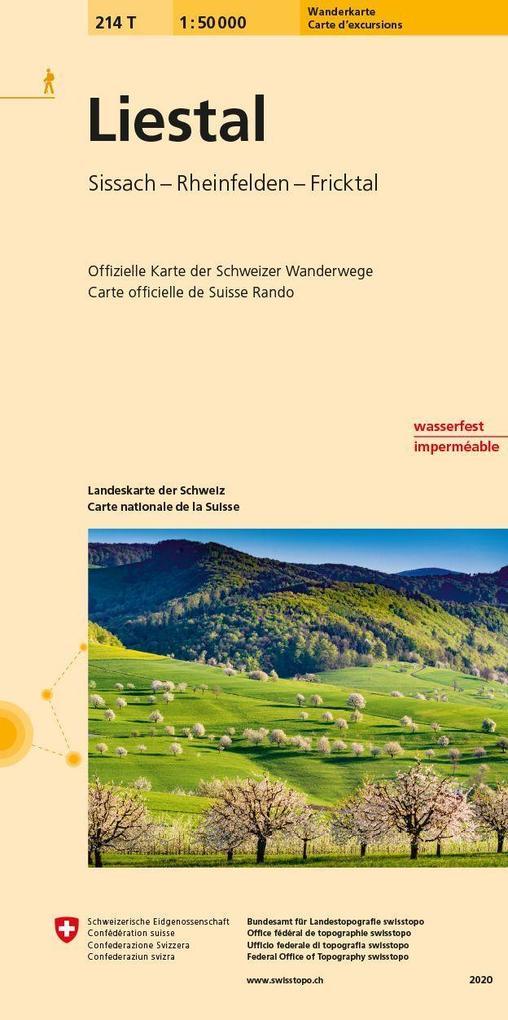 Swisstopo 1 : 50 000 Liestal als Buch von