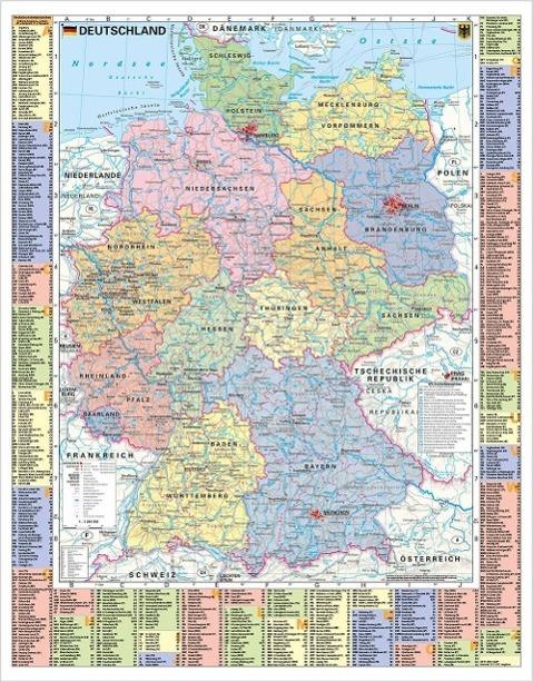 Deutschland politisch und Autokennzeichen - Wan...