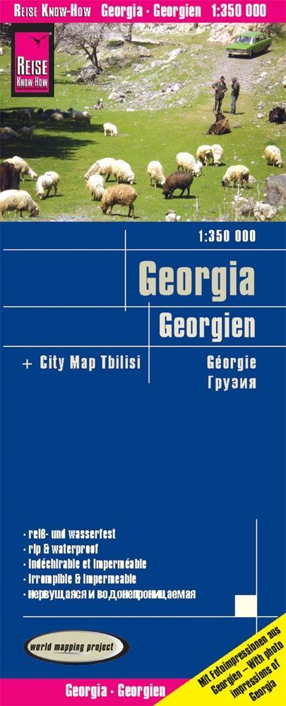 Reise Know-How Landkarte Georgien 1 : 350.000 a...