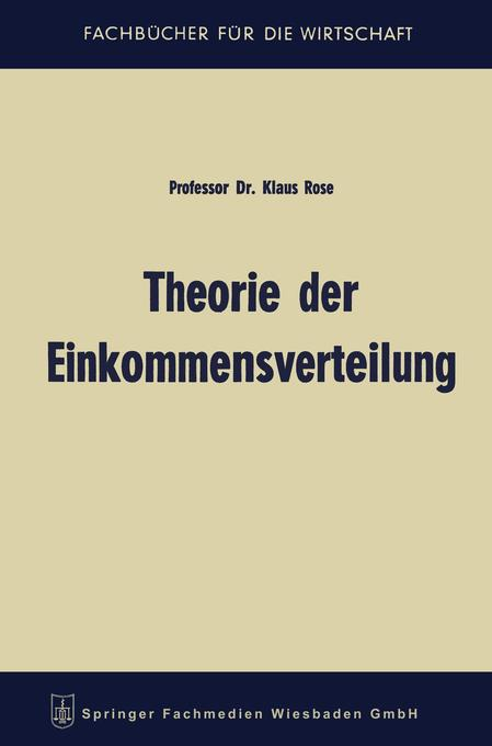Theorie der Einkommensverteilung als Buch von K...