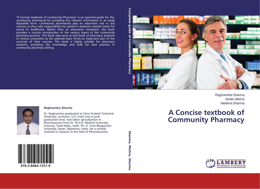 A Concise textbook of Community Pharmacy als Bu...