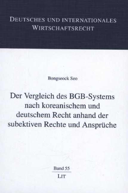 Der Vergleich des BGB-Systems nach koreanischem...