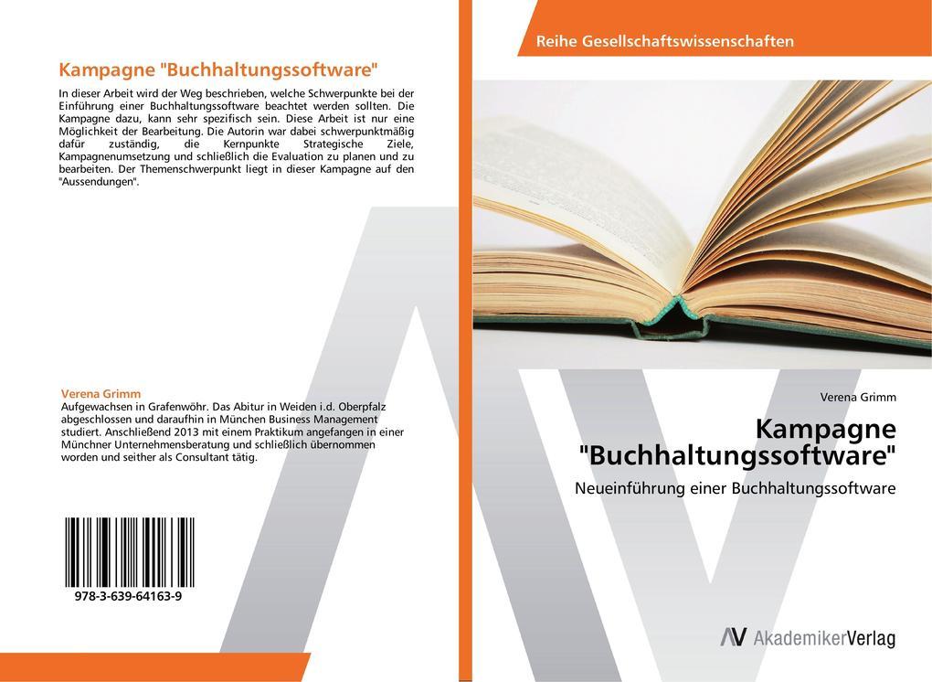 Kampagne Buchhaltungssoftware als Buch von Vere...