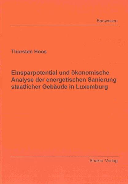 Einsparpotential und ökonomische Analyse der en...