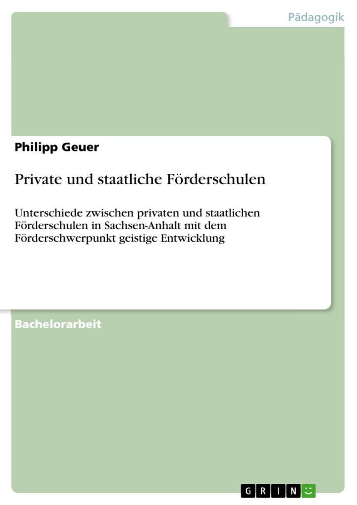 Private und staatliche Förderschulen als eBook ...