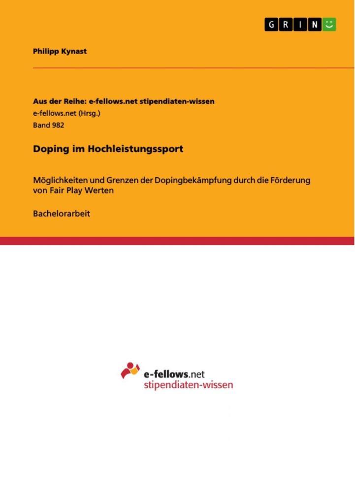 Doping im Hochleistungssport als eBook Download...