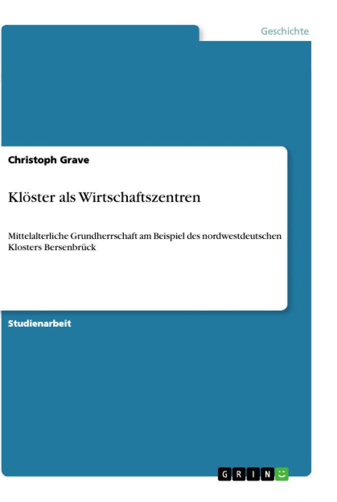 Klöster als Wirtschaftszentren als Buch von Chr...