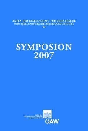Symposion 2007 als eBook Download von