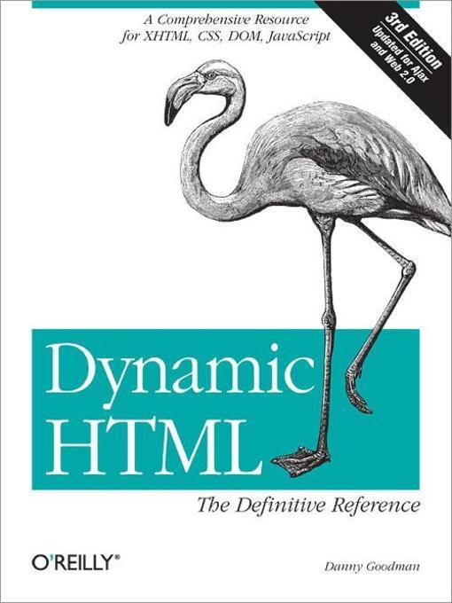Dynamic HTML als eBook Download von Danny Goodman