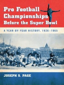 Pro Football Championships Before the Super Bow...