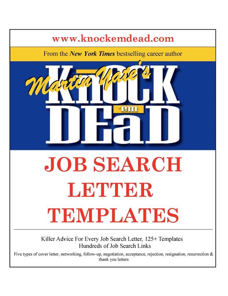 Knock ´em Dead Job Search Letter Templates als ...