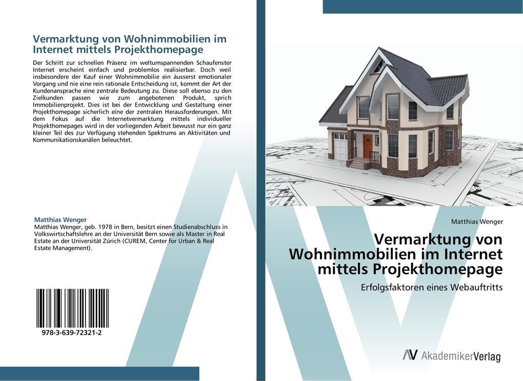 Vermarktung von Wohnimmobilien im Internet mitt...