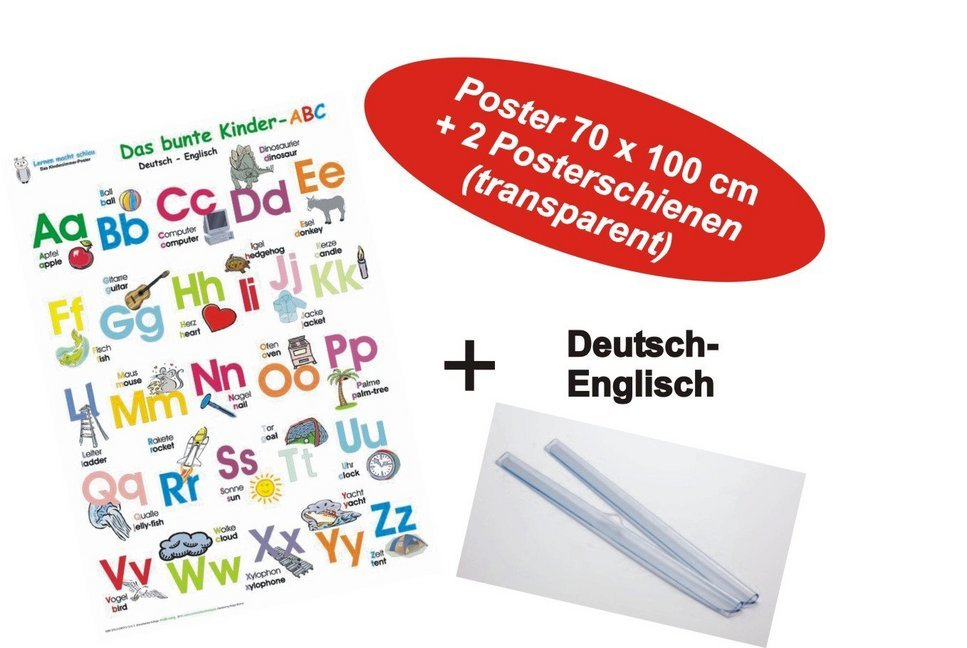 Das bunte Kinder-ABC Deutsch/Englisch + Posters...