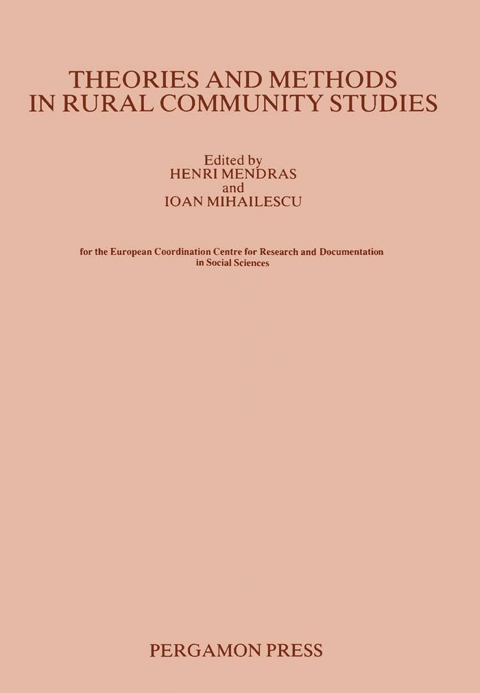 Theories & Methods in Rural Community Studies a...