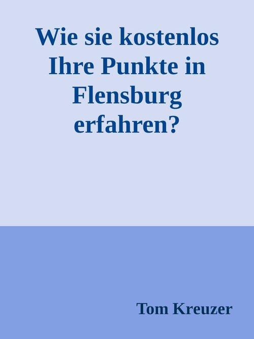 Wie sie kostenlos Ihre Punkte in Flensburg erfa...
