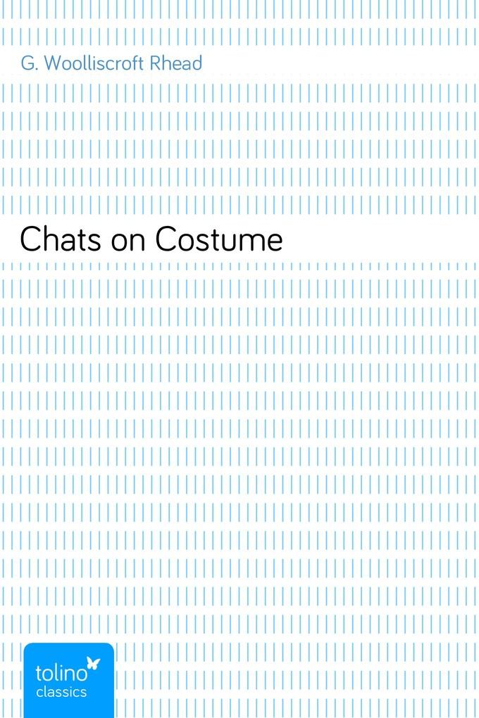 Chats on Costume als eBook Download von G. Wool...