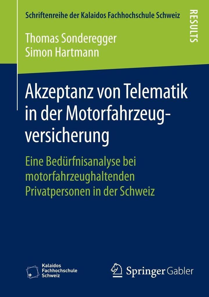 Akzeptanz von Telematik in der Motorfahrzeugver...